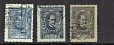 1920 CZECHOSLOVAKIA Masaryk COMPLETE SET OF 3 Sc#61-63 Used SCARCE