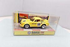 Bauer Porsche 911 RSR - Yellow - NEW - HO Scale Slot Car '73 Sebring
