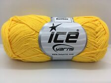 Canary Yellow Cotton Bamboo Yarn Ice #41444 Baby / Sport Weight 50Gram 153 Yards