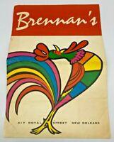 Vintage Breakfast At Brenan's 417 Royal Street New Orleans MCM Lunch Menu