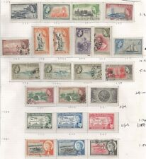 BARBADOS SG289-308 QE2 MINT AND USED TO $2.40(MNH) CAT £45+