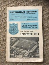 Tottenham H V Leicester City Programme 24th April 1965