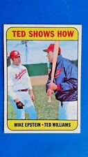 1969 Topps Ted Williams Washington Senators Baseball Card #539 Vintage