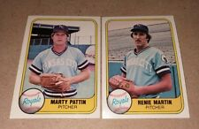 1981 Fleer Royals (2-Card Lot) M.Pattin&R.Martin #'s 37&39 PACK FRESH! NO CREASE