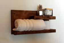 Wooden Wall Shelf, Rustic Floating Shelf, Towel Rack, Bathroom Shelf, Towel Shel