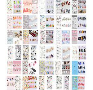 Nail Art Water Decals Transfers Stickers Manicure Decoration, Flowers, Xmas, UK