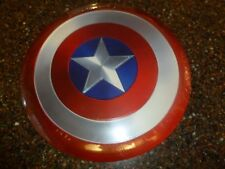"Marvel Captain America 12 X 12"" Shield Tin Embossed Sign holes for hanging New"