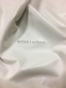Pure Lambskin 100% Leather Skins Sheep Lamb 5 Sqft White Premium Leather Skins