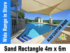 New Extra Heavy Duty Shade Sail- Rectangle 4m x 6m Sand Color Also Custom Made