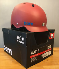 New! Bern Watts All Season Bike/Snow/Skate Helmet Men's Large 59-62cm Matte Red