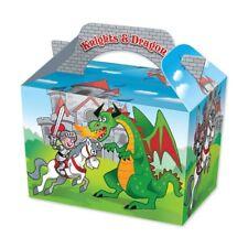 20 Caballeros & Dragons Cajas-Comida Saquear Almuerzo Cartón Regalo para Niños Niños