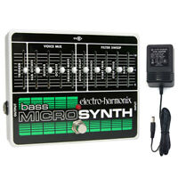 Electro-Harmonix Bass Micro Synth Synthesizer Pedal w/ Power Supply