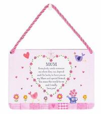 Mum Gift - Shaped Tin Plaque - Sentimental Verse  PA004