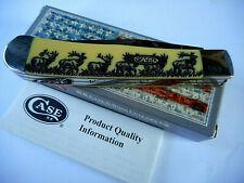 Case Xx Yellow Elk Trapper #669 Pocketknife Usa Made Ca80161E 3254Ss Blades