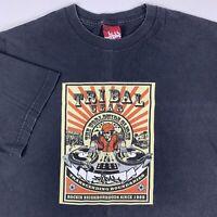 VTG Tribal Gear Streetwear Graphic T-Shirt Mens XL X-Large DJ Hip Hop Grafiti
