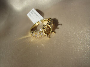 0.56 Carats Fine Pink Diamonds 18K Yellow Gold Engagement Ring Setting  Size 7