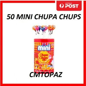 MINI CHUPA CHUPS Lollipop 50 Assorted Flavour Candy Party Lollies