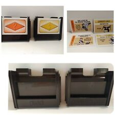 Monopoly 60th ANNIVERSARY Parts 1995 Chance & Community Chest Caddy Caddies