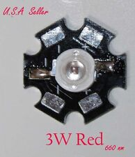 3W x 6 PCs High Power Red 660nm LED Specialist for plant, DIY item