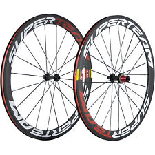 SUPERTEAM Clincher Carbon Wheels Road Bike 50mm Carbon Cycling Bicycle Wheel