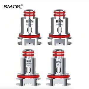 Genuine SMOK RPM40 Coils  Quartz 1.2ohm , Mesh 0.4ohm , Triple 0.6ohm - 5 Pack