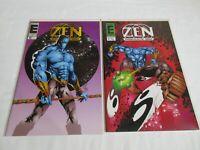 Entity Comics Zen Intergalactic Ninja #0 and #1 lot VF/NM