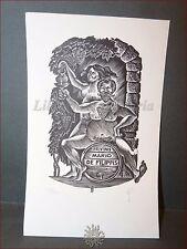 EROTICA - Ex-Libris Originale Firmato LEONID GORBAN Israele Mario De Filippis