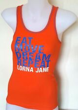 NWT LORNA JANE Women's Sleeveless Singlet Orange Top Size XS Inspirational Words