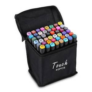 Markers 40Colours Graphic Drawing Painting Art Dual Tip Sketch Pens Set
