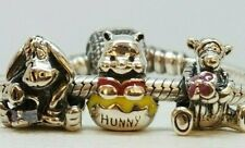GENUINE S925 SET OF 3 CHARMS  WINNIE THE POOH TIGGER TIGER EEYORE LIMITED SALE !