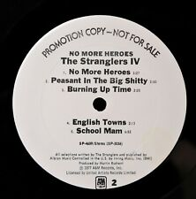 The Stranglers No More Heroes  LP RARE A&M US WHITE LABEL PROMO WarningSticker