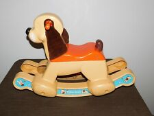 "VINTAGE TOY 1983 24"" LONG FISHER PRICE PLASTIC RIDE ON ROCKER PUPPY DOG"
