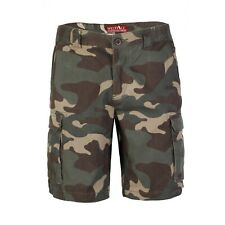 Mens Army Casual Cargo Combat Shorts Cotton Work Chino Camo Half Pant