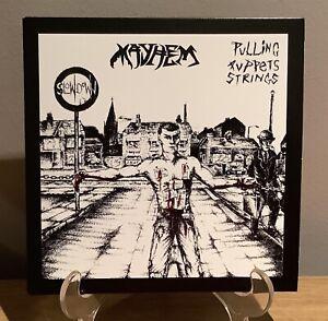 """Mayhem - Pulling Puppets Strings 7"""" Punk Vinyl"""