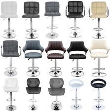 Breakfast Bar Stool Swivel PU Leather Kitchen Chrome Metal Bas Gas Lift Chair
