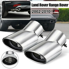 Pair Steel Exhaust Muffler Oval Tail Pipe Tip 165mm For Range Rover Sport 02-10