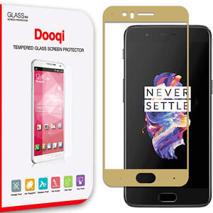 Dooqi Premium [ Full Coverage ] Tempered Glass Screen Protector for OnePlus 5