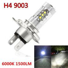 1x 80W H4 6000K 1500LM COB LED Motorcycle Headlight Hi/Lo Beam Front Light Bulb