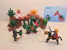 Playmobil Knight Castle Set 3345 Dastardly Dragon, Princess, Cave, Near Complete