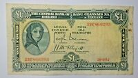 IRELAND : LAVERY ONE  POUND NOTE . 26.8.1952. EARLY DATE.   FREE SHIPPING