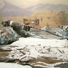 CUSTOM WESTERN 36 USA KNIFE CROWN STAG  Resto-Mod W/SHEATH S REED