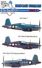 EagleCals Decals 1/32 VOUGHT F4U-1 BIRDCAGE CORSAIR Fighters Part 2