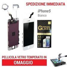 TOUCH SCREEN  LCD DISPLAY RETINAFRAME VETRO SCHERMO PER APPLE IPHONE 5 BIANCO