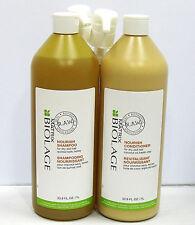 Biolage RAW Nourish Shampoo Conditioner 33.8 oz Liter Set Duo  plus pumps