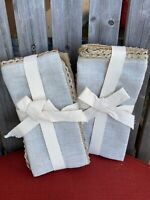 2 Packs Of Kenley Cloth Dinner Napkins (Set of 4) Rustic Farmhouse Country