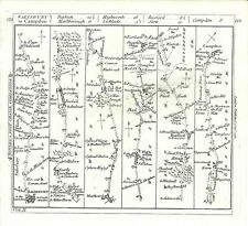 Antique map, The Road from Salisbury to Campden