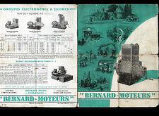 "SURESNES (92) MOTEURS ""S.A. MOTEURS BERNARD"" Catalogue en 1938"
