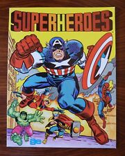 1980 MARVEL SUPERHEROES A.G.E. STICKER ALBUM, BOX & ALL 100 UNOPENED PACKAGES