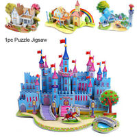 l'assemblage de jouets en papier bricolage puzzle en 3d modèle du château