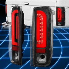 For 90-97 Ford F150 F250 Bronco Red LED Bar Tail Brake Light Lamps Replacement